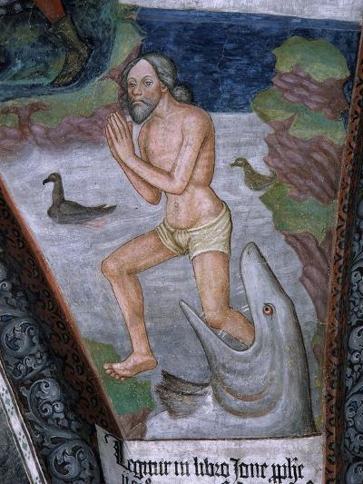 Jonah Stepping from Whale's Mouth, Fresco, 15th - 16th Century--Giclee Print
