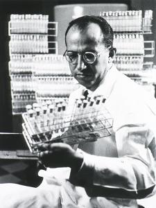Jonas E. Salk Medical Researcher Who Developed the First Polio Vaccine, Ca. 1955