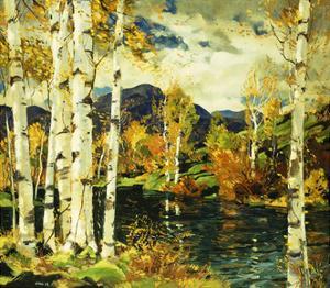 Birches by Jonas Lie