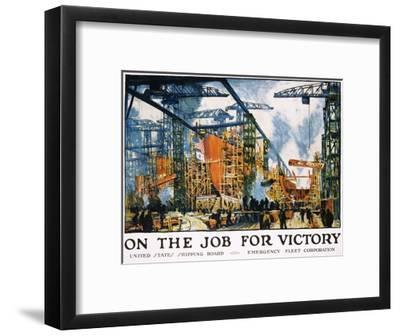 On the Job for Victory Poster