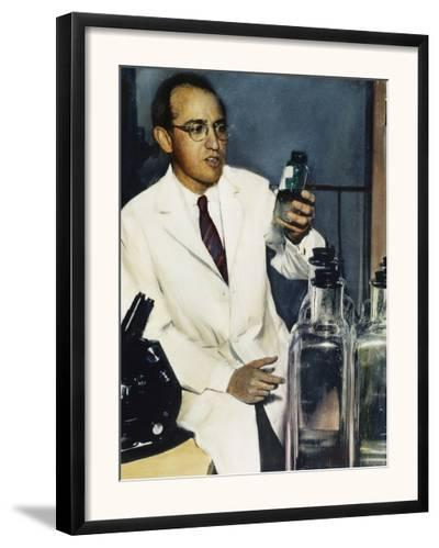 Jonas Salk (1914-1995)--Framed Photographic Print
