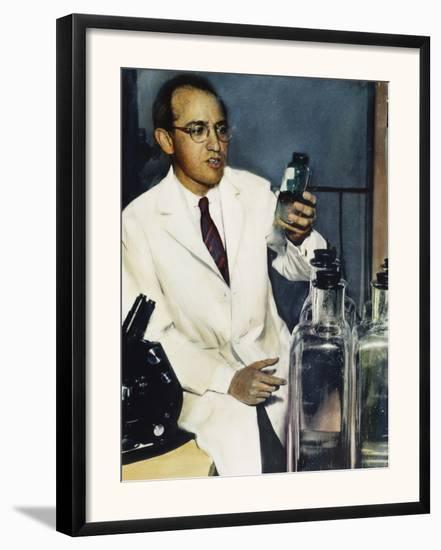 Jonas Salk (1914-1995)--Framed Photographic Print