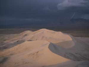 Kelso Dunes Glows with the Days Late Light by Jonathan Blair