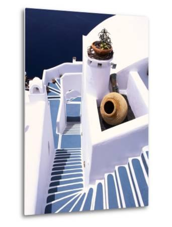 Stairway of a Whitewashed Church