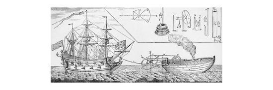 'Jonathan Hulls's Steam Tug Boat', 1736, (1904)-Unknown-Giclee Print