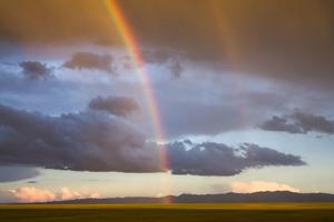 A Double Rainbow in the Sky over the Gobi by Jonathan Irish