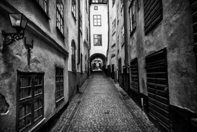 A Narrow Cobblestone Street in Stockholm's Old Town, Gamla Stan by Jonathan Irish