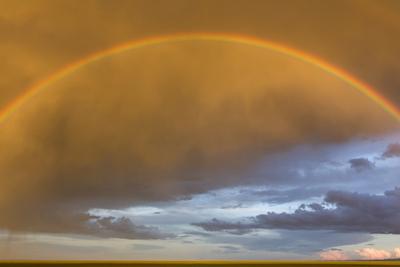 A Rainbow in a Golden Sky over the Gobi by Jonathan Irish