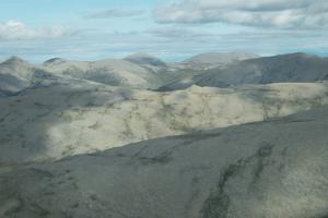 An aerial view of Kobuk Valley National Park. by Jonathan Irish