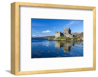 Eilean Donan Castle on a Small Tidal Island in the Western Highlands of Scotland