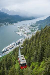 A High Angle View of the Mount Roberts Tramway Above the City of Juneau by Jonathan Kingston