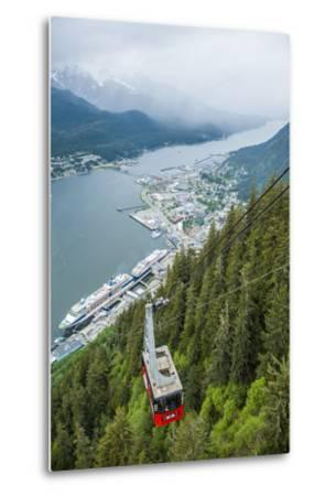 A High Angle View of the Mount Roberts Tramway Above the City of Juneau