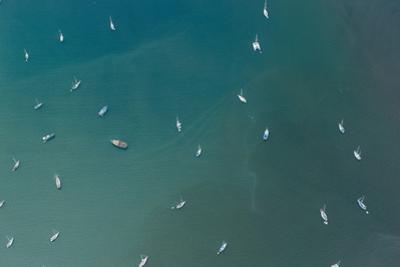 Aerial View of Boats Anchored in the Bay of Portobelo, Panama by Jonathan Kingston