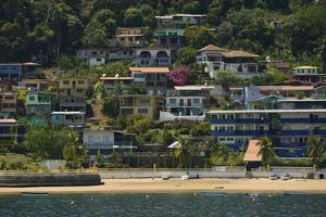 Colorful Houses on Taboga Island Off the Pacific Coast of Panama by Jonathan Kingston