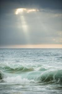 Sun Rays Break Through the Clouds over the Pacific on the West Shore of Molokai, Hawaii by Jonathan Kingston