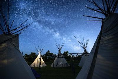 Teepees Under The Milky Way On The Apsaalooke, Or The Crow American Indian Reservation