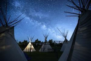 Teepees Under The Milky Way On The Apsaalooke, Or The Crow American Indian Reservation by Jonathan Kingston