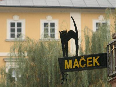 Cafe Sign at Macek, Ljubljana, Slovenia