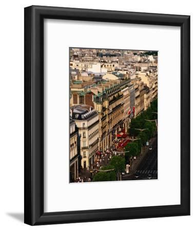 Champs Elysees Seen from Arc De Triomphe, Paris, France