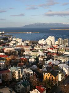 City Centre with Harbour in Background, Reykjavik, Iceland by Jonathan Smith