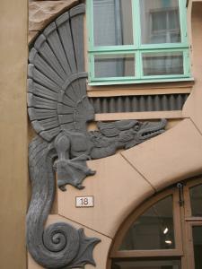 Detail of Draakoni Gallery, Tallinn, Estonia by Jonathan Smith