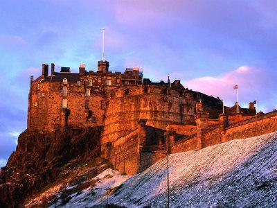 Edinburgh Castle Seen from Johnston Terrace, Edinburgh, United Kingdom