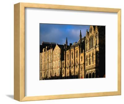 Facades of Buildings on Victoria Terrace, Edinburgh, United Kingdom