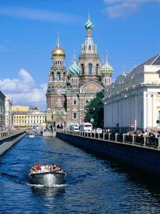 Griboedova Canal and Church of the Spilled Blood, St. Petersburg, Russia by Jonathan Smith