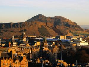 Holyrood Park and Arthur's Seat Seen from Edinburgh Castle, Edinburgh, United Kingdom by Jonathan Smith