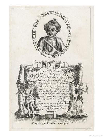 Jonathan Wild the Thief and Thief Taker Who was Executed at Tyburn in 1725--Giclee Print