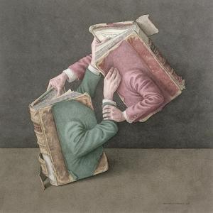 A Literary Struggle, 2002 by Jonathan Wolstenholme