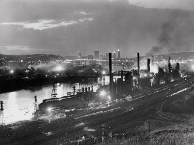 Jones and Laughlin Steel Mill, Pittsburgh, Pennsylvania--Photographic Print