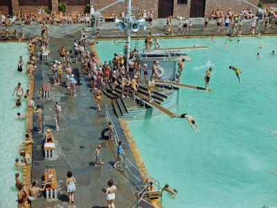 Jones Beach State Park Bathing Pool-B^ Anthony Stewart-Photographic Print