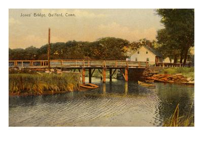 Jones' Bridge, Guilford, Connecticut--Art Print