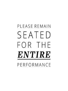 Please Remain Seated by Joni Whyte