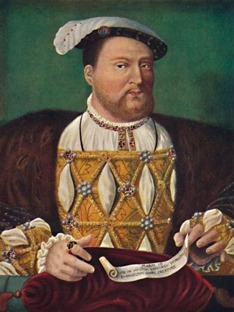 'Portrait of Henry VIII (Hampton Court Palace)', c1530, (1903)