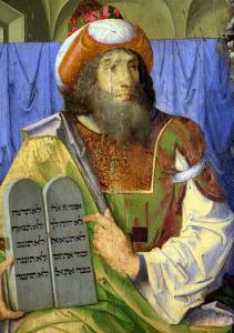 Moses with the Ten Commandments, from a Series of Portraits of Illustrious Men (Detail) by Joos van Gent