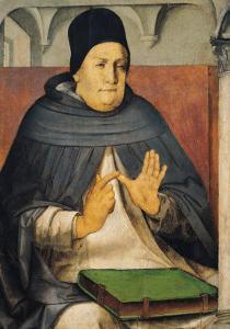 Portrait of St. Thomas Aquinas circa 1475 by Joos van Gent