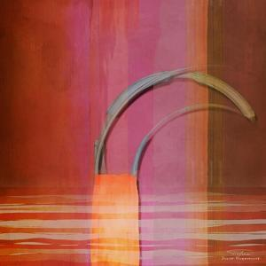 Abstract Right Bow on Red by Joost Hogervorst