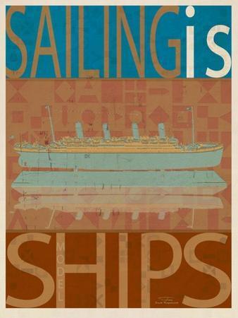 Sailing Is Titanic Model on Brown by Joost Hogervorst