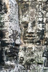 Giant Heads at the Bayon Temple, Angkor, Siem Reap, Cambodia, Indochina by Jordan Banks