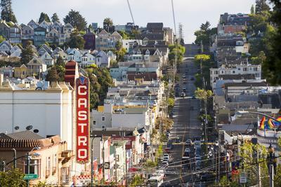 North America, USA, America, California, San Francisco, Aerial view of Castro street and the surrou