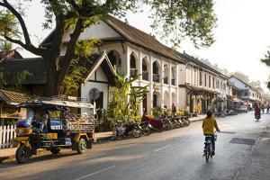 Typical Street Sscene, Luang Prabang, Laos, Indochina, Southeast Asia, Asia by Jordan Banks