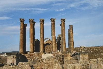 Jordan, Jerash, Temple of Artemis-Claudia Adams-Photographic Print