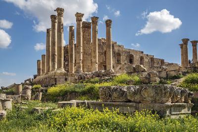 Jordan, Jerash. the Ruins of the Great Temple of Zeus in the Ancient Roman City of Jerash.-Nigel Pavitt-Photographic Print