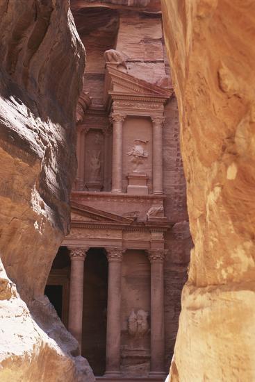 Jordan, the Treasury at Petra-Steve Roxbury-Photographic Print