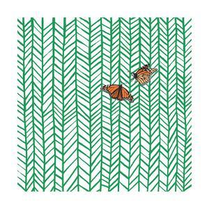 Butterflies in Chevron by Jorey Hurley