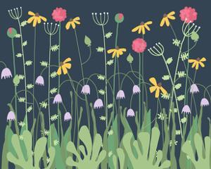 Nighttime Flowers 1 by Jorey Hurley