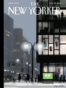 The New Yorker Cover - January 24, 2011 by Jorge Colombo