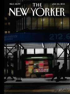 The New Yorker Cover - January 28, 2013 by Jorge Colombo